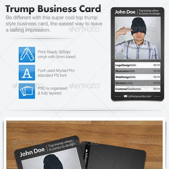 Trading Card Style Business Card
