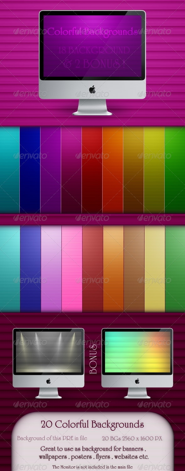 20 Colorful Backgrounds  - Backgrounds Graphics