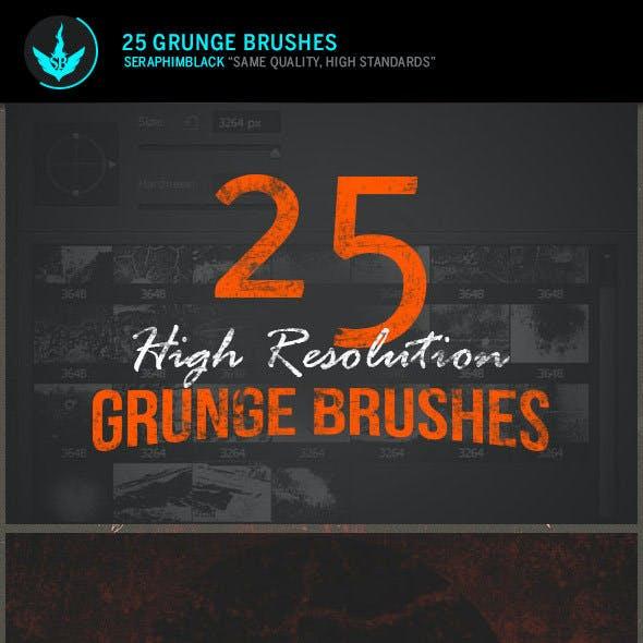 25 High Resolution Grunge Photoshop Brushes