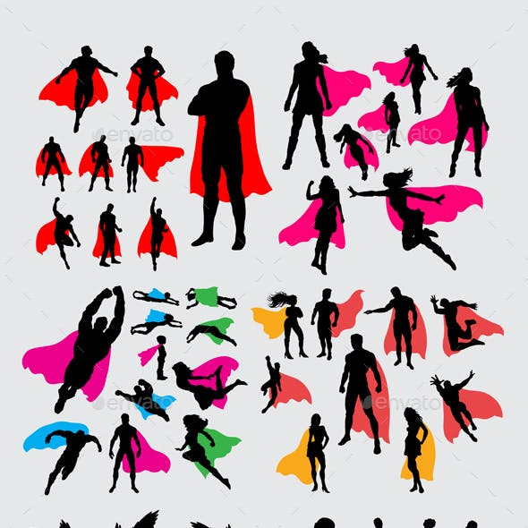 Superhero and Fantasy Silhouettes