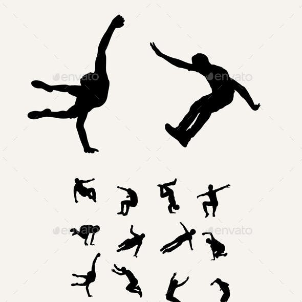 Parkour - Tricking - Sport Silhouettes