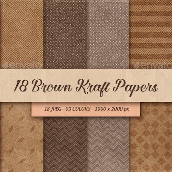 18 Brown Kraft Paper Backgrounds
