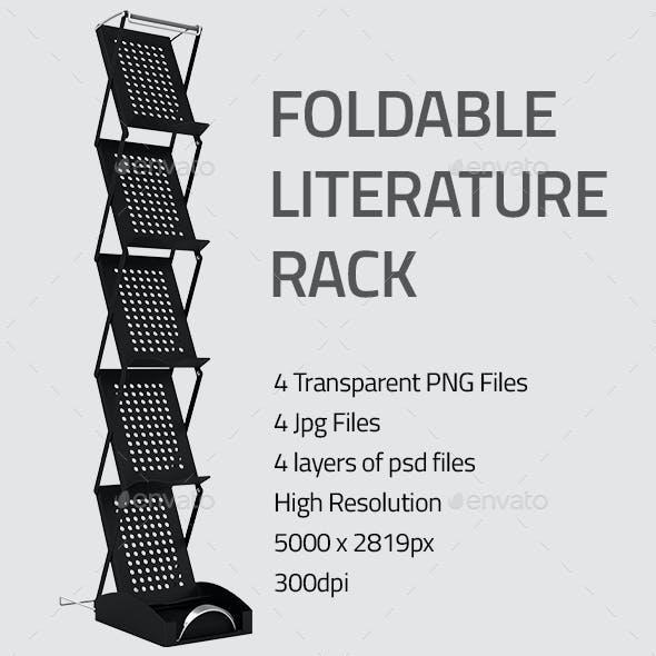 Foldable Literature Rack