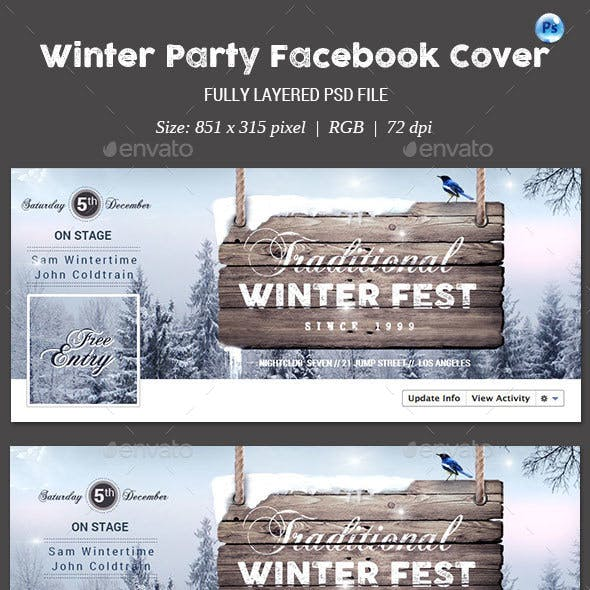 Winter Party Facebook Cover