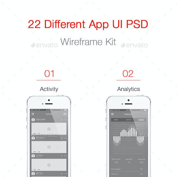 Mobile App Wireframe Ui Kit