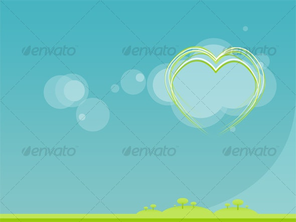 Green Love - Minimal - Miscellaneous Backgrounds