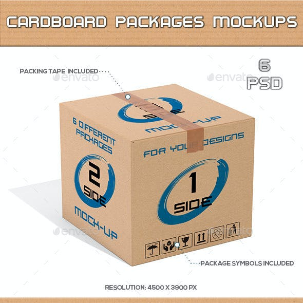 Cardboard Packages Mock-Up