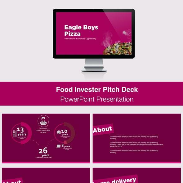 Food Investor Pitch Deck