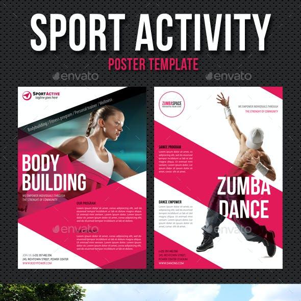 Sport Activity Poster Template V08