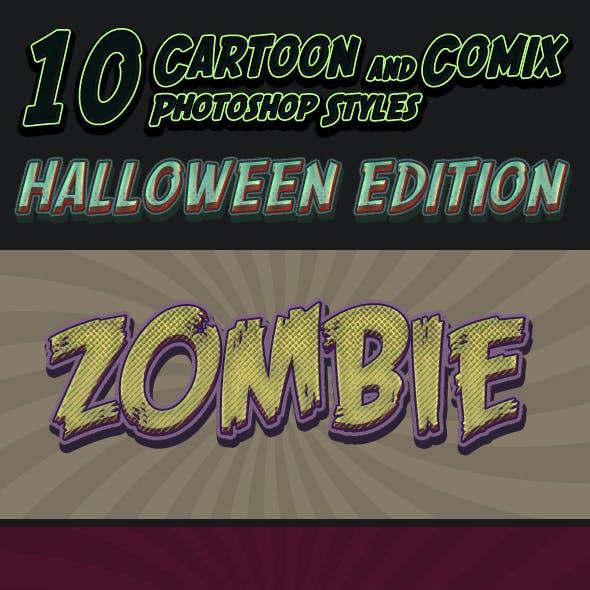 Cartoon and Comic Book Styles - Part 9 - Halloween