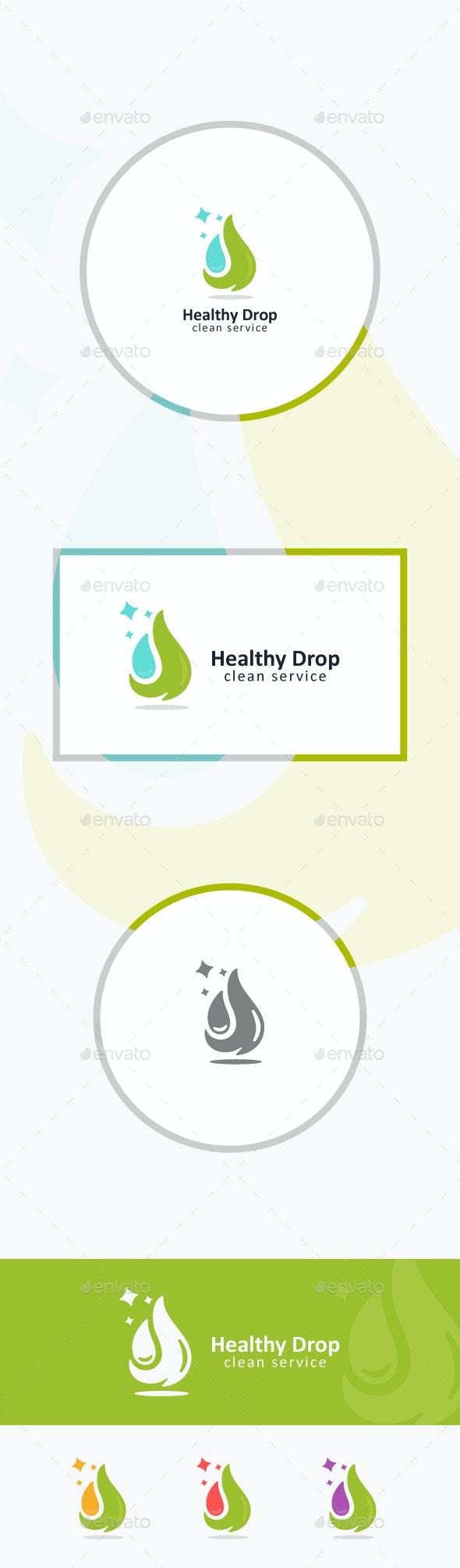 Green Drop - Nature Logo Templates