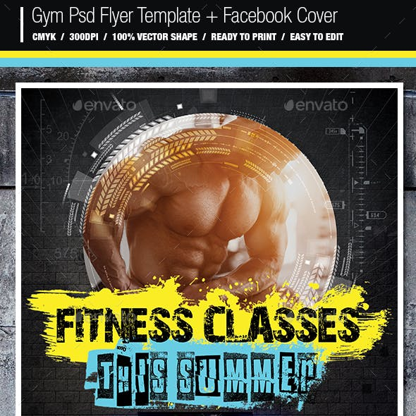 Gym Flyer And Facebook Cover