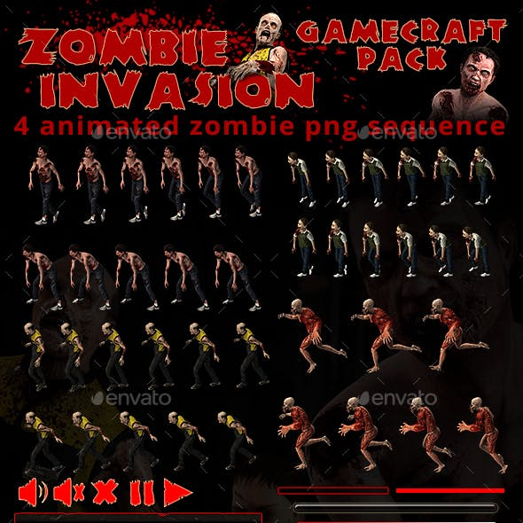 Zombie Invasion Game Assets