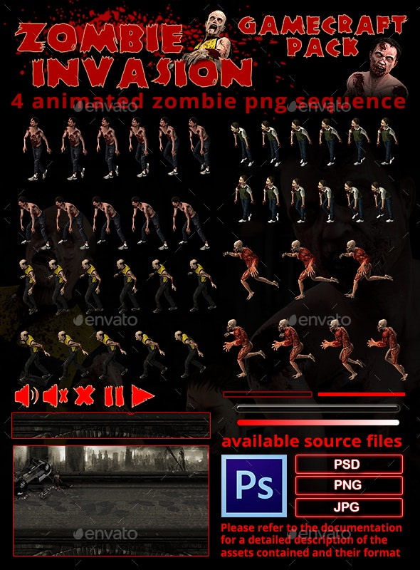 Zombie Invasion Game Assets - Game Kits Game Assets