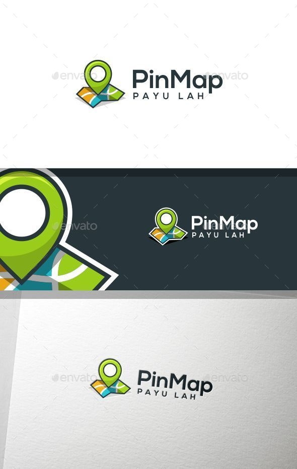 Pin Map - Symbols Logo Templates