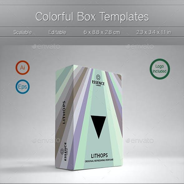 3 Colorful Box Templates