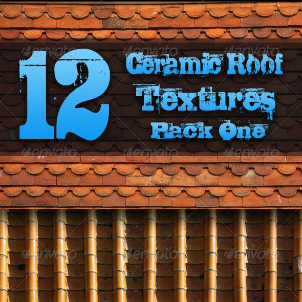 12 Ceramic Roof Textures - Pack One