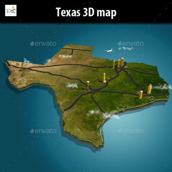 Texas 3D map