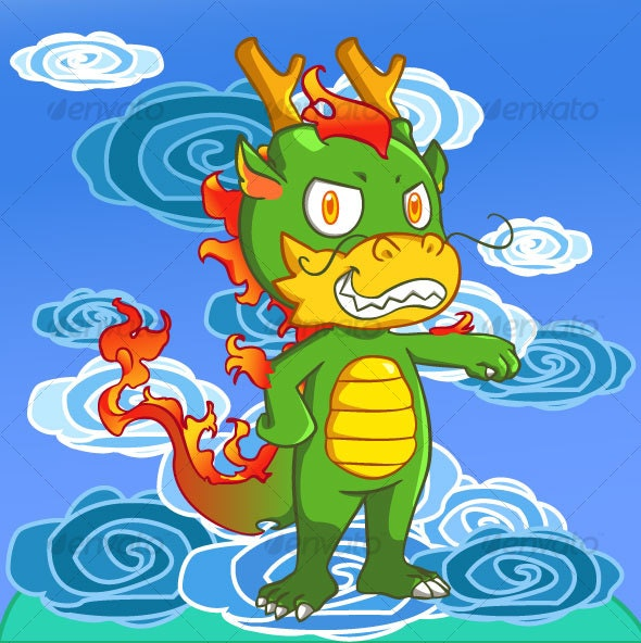 Chibi Chinese Dragon - Monsters Characters