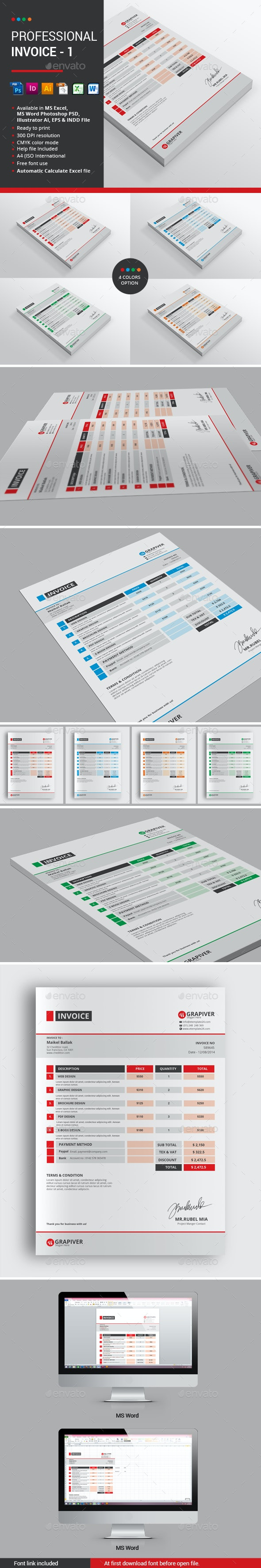 Professional Invoice - 1 - Proposals & Invoices Stationery