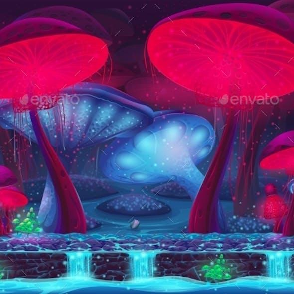 Magic Mushroom Hollow - Mystical Background