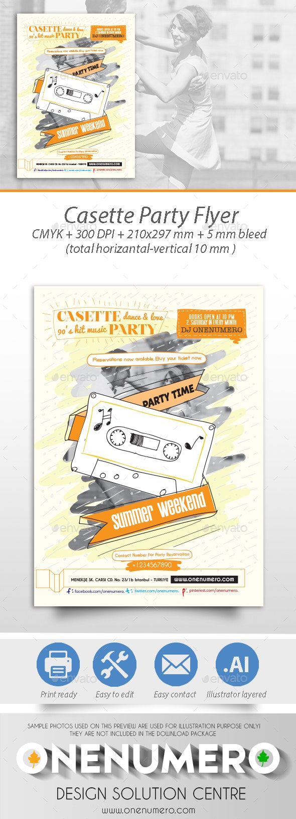 Casette Party Flyer - Clubs & Parties Events
