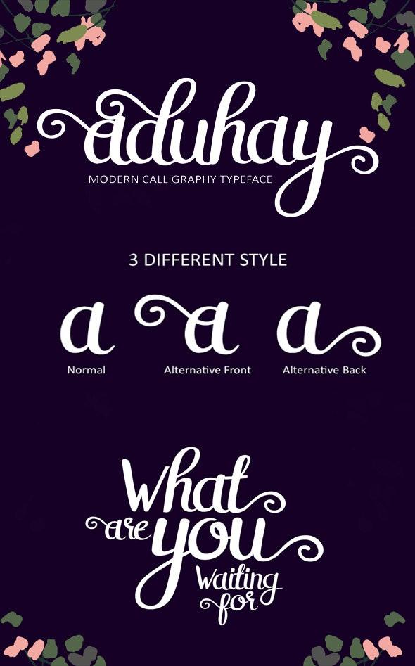 Aduhay Script - Hand-writing Script