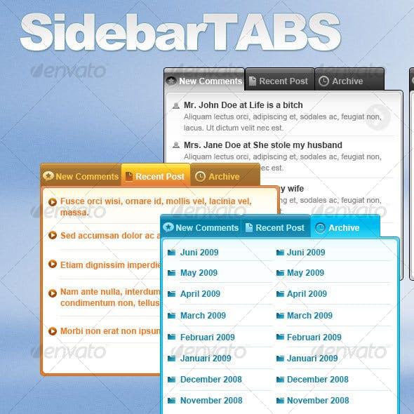 Sidebar Tabs