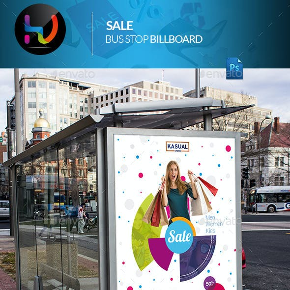 Sale Bus Stop Billboard