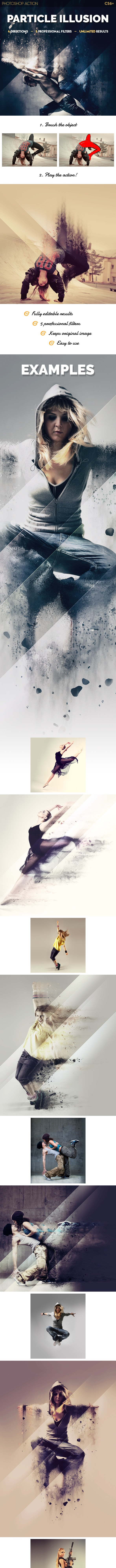 Particle Illusion Photoshop Action - Photo Effects Actions