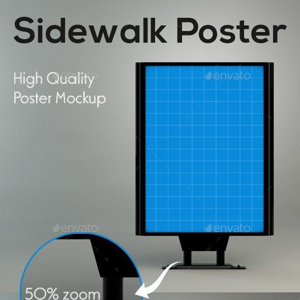 Sidewalk Poster Mockup