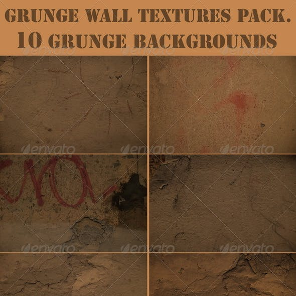 Grunge wall textures pack