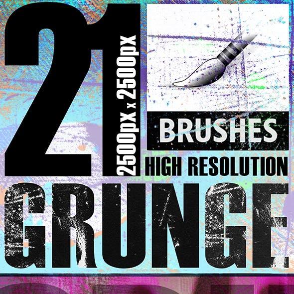 21 Photoshop Grunge Brushes