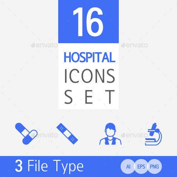 16 Hospital Icon Set