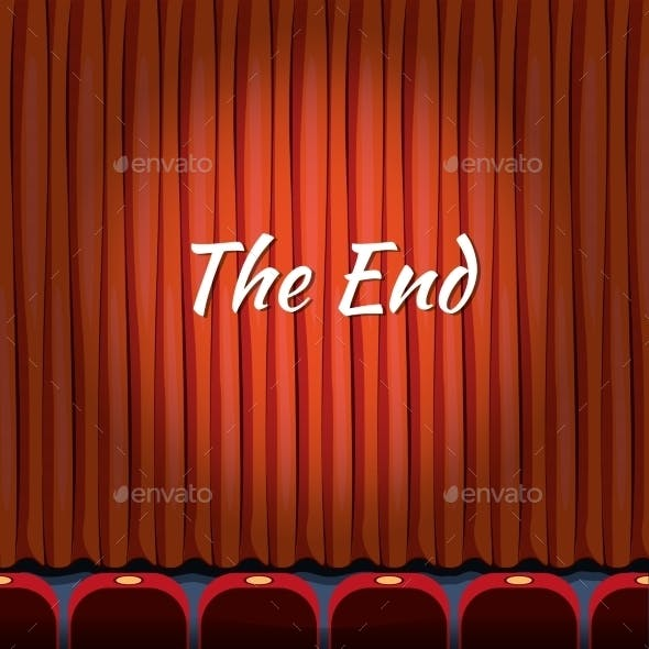 Movie Ending Screen Vector Concept Background