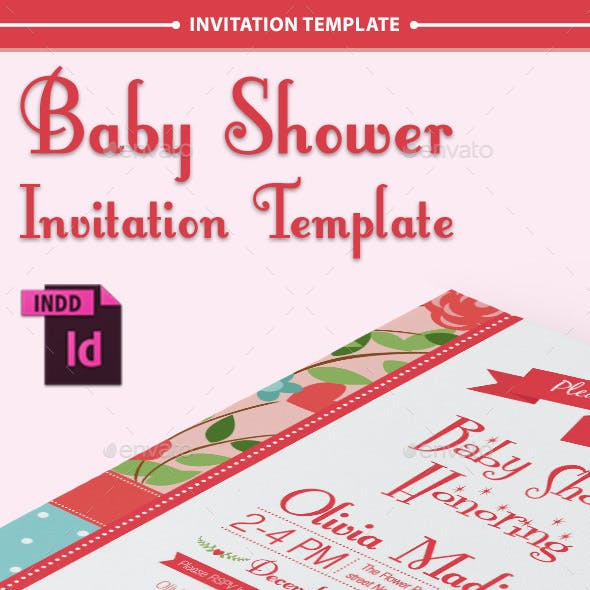 Baby Shower Template - Vol. 10