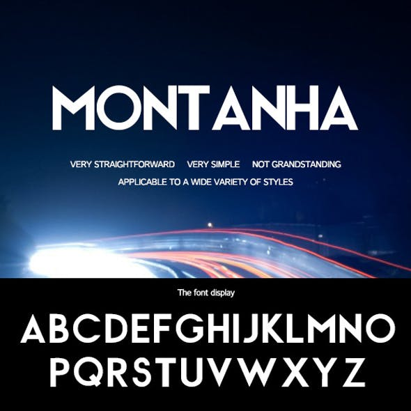 Montanha-Simple and bold font