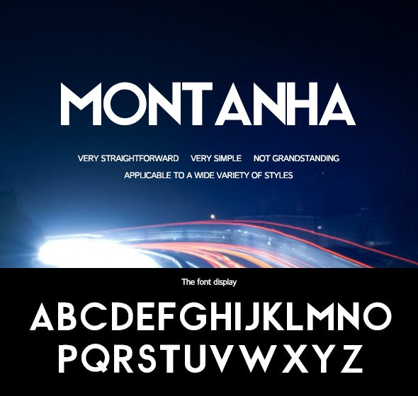 Montanha-Simple and bold font - Sans-Serif Fonts