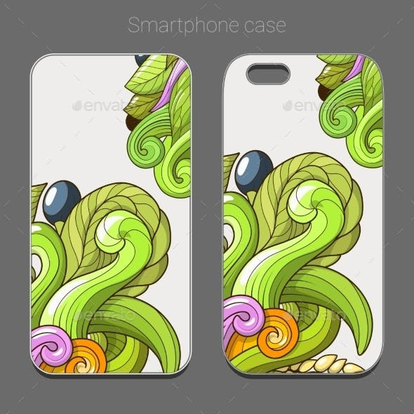 Smartphone Case Design Green Abstraction Vector