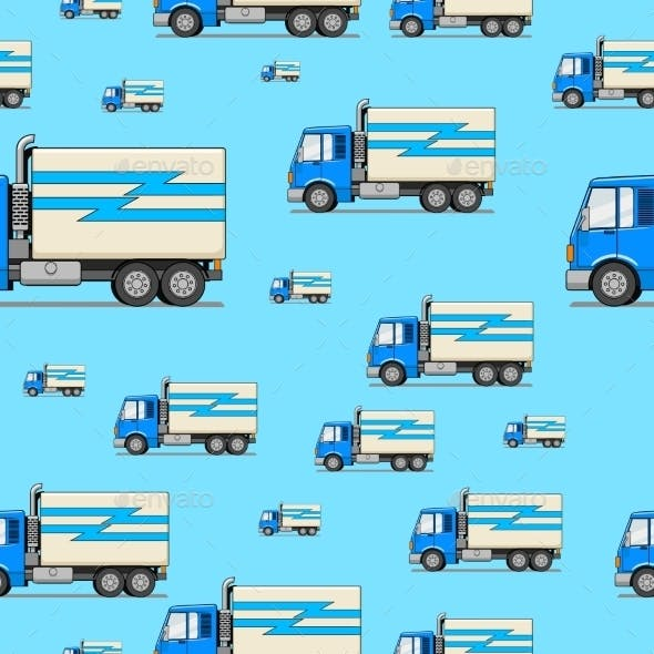 Seamless Pattern Truck Vector Illustration