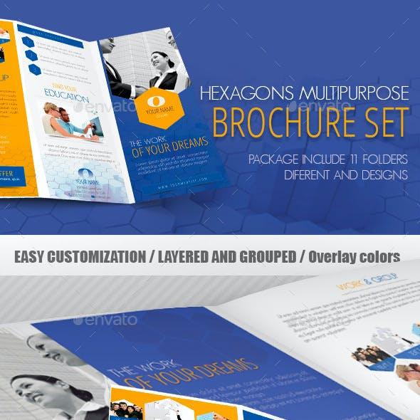 Hexagons Multipurpose Brochure Set
