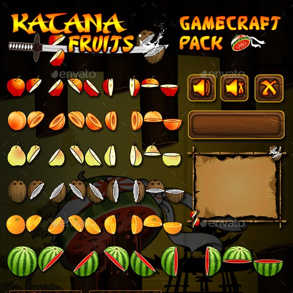 Katana Fruits Game Assets