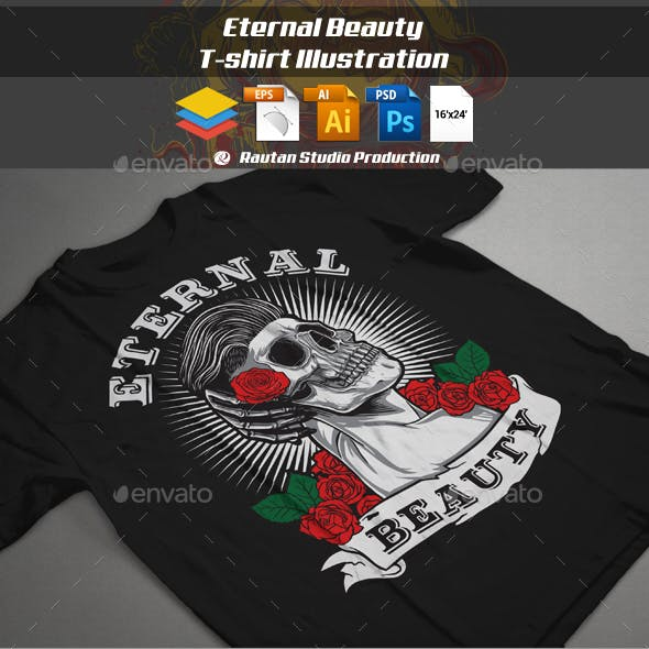 Eternal Beauty T-shirt Illustration