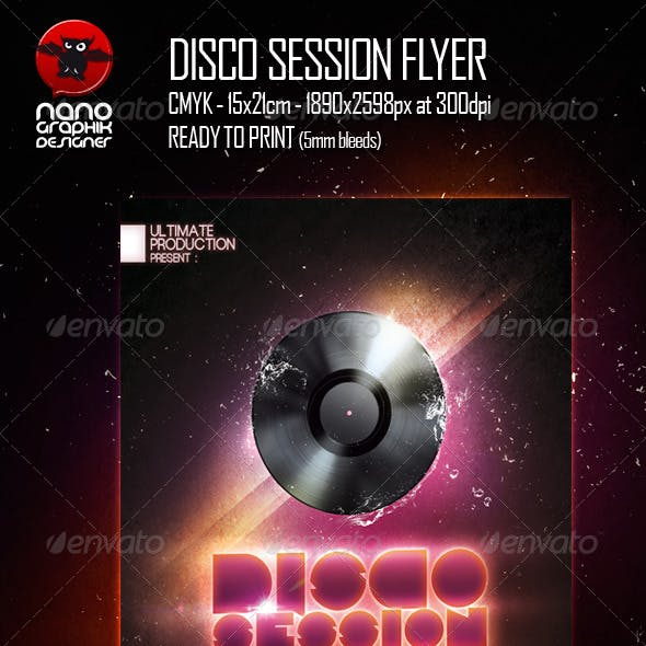 Disco Session Flyer