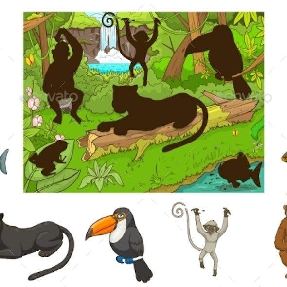Jungle Cartoon Educational Game