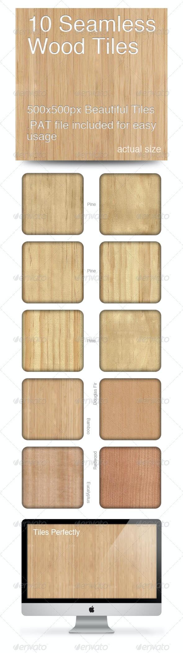 10 Seamless Wood Tiles - Wood Textures