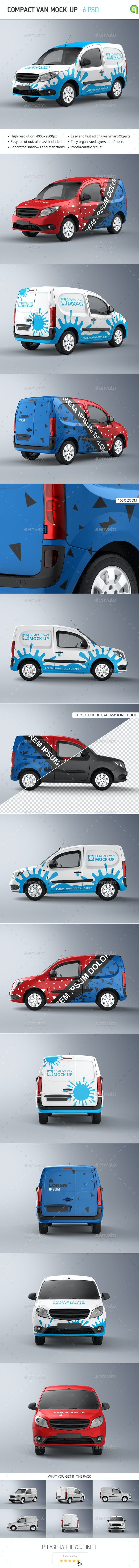Compact Van Mock-up - Vehicle Wraps Print