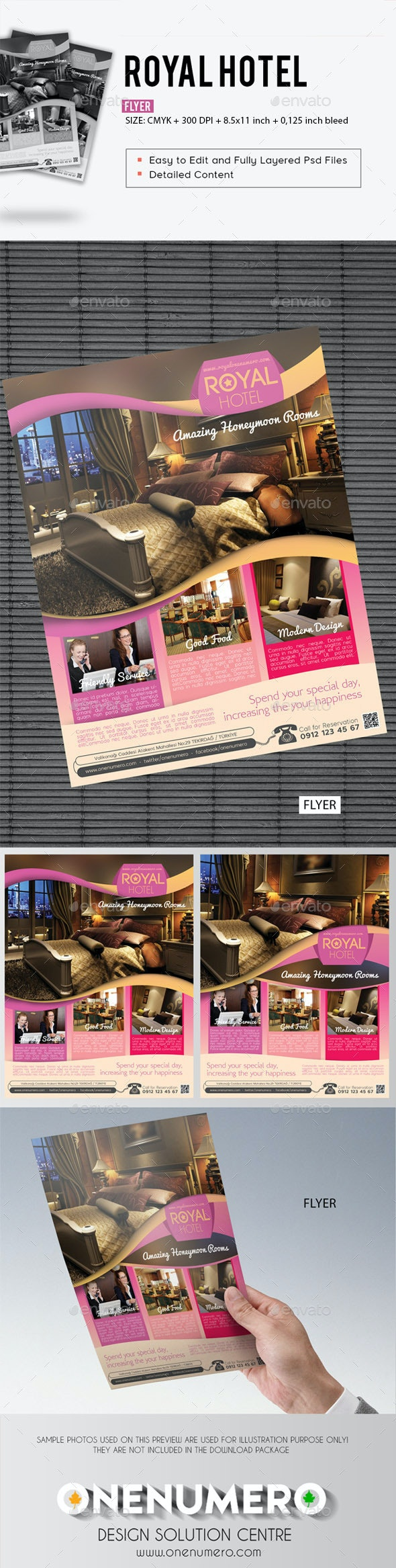 Royal Hotel Flyer Template - Corporate Flyers