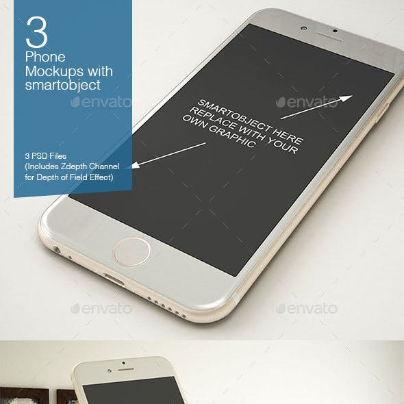 Phone Mockup 3 Poses