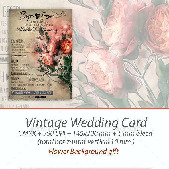 Vintage Wedding Card